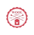 Wool Red Product Logo Design vector image vector image