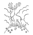 young deer in the forest vector image vector image