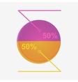 Infographics with interest vector image