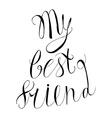Vintage friendship lettering vector image