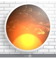 Abstract Round Shape With Frame vector image vector image