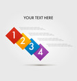 angle infographics step by step in a series of vector image vector image