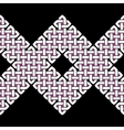 Asian or Celtic knot seamless border or pattern vector image vector image