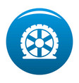 auto tire icon blue vector image vector image