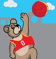 Basketball Bear vector image vector image