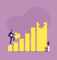 business reach target and success concept vector image
