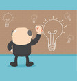 businessmen are painting a wall lamp when they vector image vector image