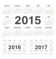 circle calendars 2015 2016 2017 vector image vector image