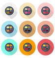 circular eyeshadow palettes flat icon set vector image vector image