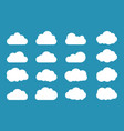 clouds icon set flat style vector image vector image