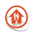 Couple house sign sticker orange vector image