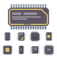 cpu microprocessors microchip vector image vector image