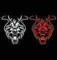 Dragon head symbol vector image vector image