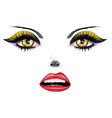 Face with Yellow Eyes vector image vector image