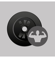 fitness silhouette dumbbell gym graphic vector image