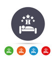 five star hotel sign icon rest place