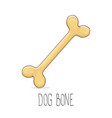 funny cartoon cute brown dog bone vector image
