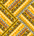 Geometric tribal pattern vector image vector image
