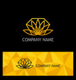 gold lotus flower logo vector image vector image