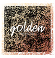 gold paint glittering grunge textured art with vector image