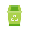 green recycle bin and recycle symbol cleaning and vector image