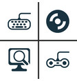 hardware icons set collection of laptop computer vector image vector image