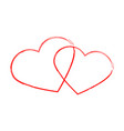 heart sign brush style vector image
