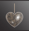 heart with gold sparkles vector image