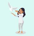 indian girl cartoon vector image