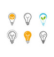 light bulb icon set technology idea symbol or vector image