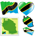 national colours of Tanzania vector image vector image