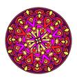 olour decorative design element with a circular vector image vector image