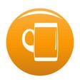 pint of beer icon orange vector image