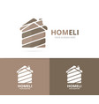 real estate logo combination house and vector image vector image