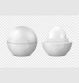 realistic 3d white blank glossy closed and vector image vector image