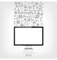 Realistic detalized flat monitor with application vector image vector image