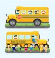 school bus kids transport vector image vector image