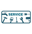 service symbol with tool vector image vector image