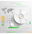 set abstract paper infographic elements vector image