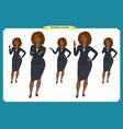 set of black businesswoman character design vector image vector image