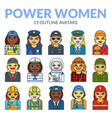 set of women avatars vector image vector image