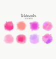 set watercolor backgrounds vector image