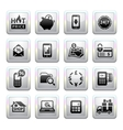 Shopping Icons Gray Web 20 icons vector image vector image
