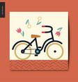 simple things - bicycle vector image