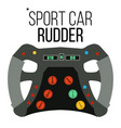 sport car steering wheel sport car racing vector image vector image