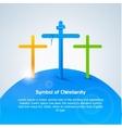symbol christianity cross vector image