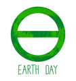symbol of earth day vector image vector image