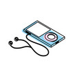 technology mp3 with headphones to listen to music vector image vector image