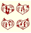 The guy with the girl and cupidsset vector image vector image
