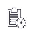 time limit line icon concept time limit vector image
